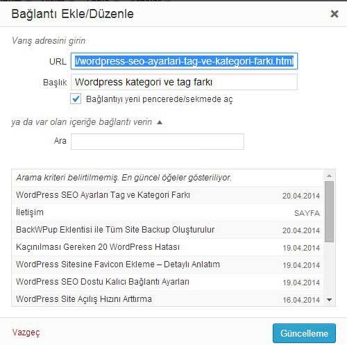 Wordpress-yaziya-link-verme-Wordpress SEO İpuçları