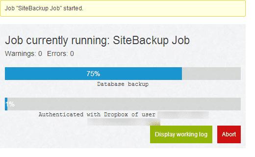 backup-job1-baslatma