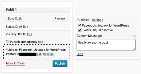 Jetpack yazıları otomatik sosyal medyada paylaşma ayarları