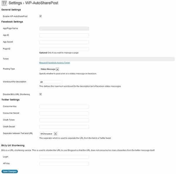 WP-AutoSharePost eklentisi ile sosyal medya otomatik yazı paylaşımı