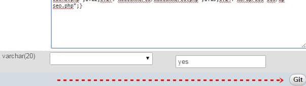 Git butonu MySQL