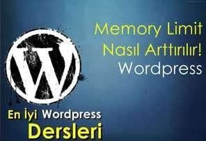 Wordpress Memory Limit Arttırma