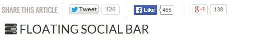 Sosyal Paylaşım Eklentisi - Floating-social-bar