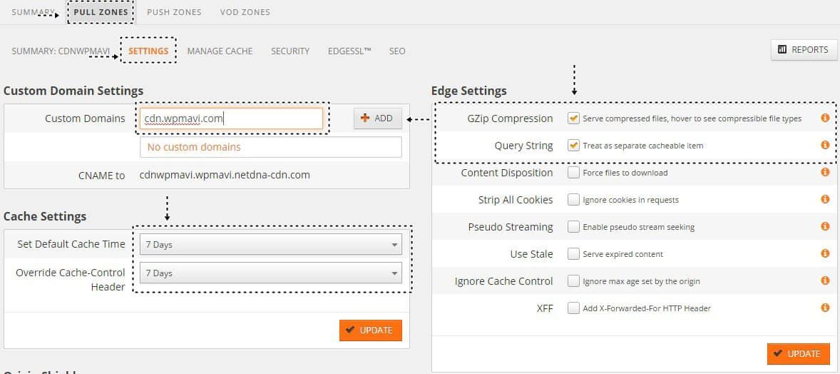 Wordpress CDN kullanımı MaxCDN Pull Zone Ayarları