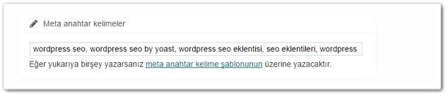 Wordpress Yoast SEO Meta Anahtar Kelimeler