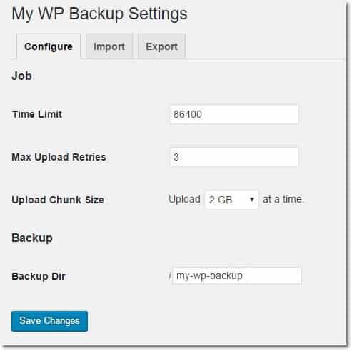 Wordpress Yedek Alma Eklentisi Ayarları