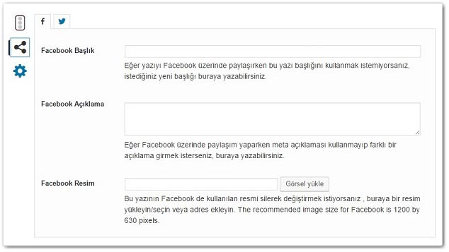 Wordpress Yoast SEO Sosyal Kutusu
