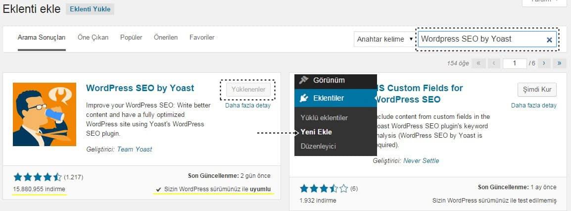 Wordpress SEO by Yoast Ekleni Kurulumu İndirme ve Yükleme