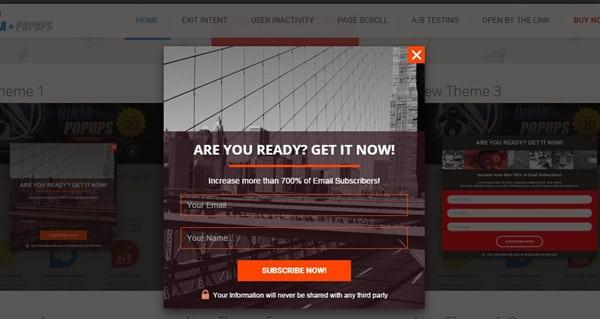 En İyi WordPress Eklentileri - WordPress Açılır Pencere Eklentisi