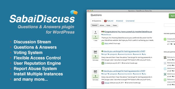 Sabai Discuss Soru Cevap Eklentisi - Profesyonel WordPress Eklentileri