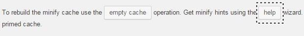 w3 total cache minfiy ayarları help butonu