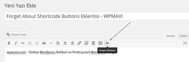 Wordpress buton ekleme - WordPress Eklenti Kullanarak Buton Ekleme