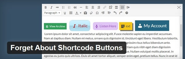 Wordpress Buton Ekleme Eklentis - Forget About Shortcode Buttons Eklentisi