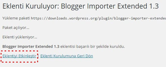 Blogger importer extented kurulumu - Blogger WordPress'e taşıma