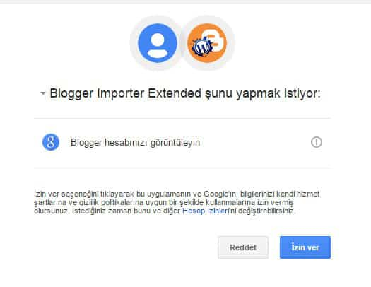 Blogger importer extented Blogger WordPress'e aktarma