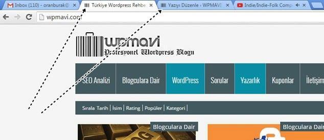 blog açtıktan sonra ilk yapılması gerekenler favicon eklemek