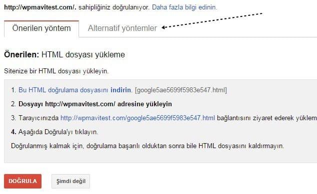 Wordpress SEO için Sİteyi Google'a Kaydetmek - 3