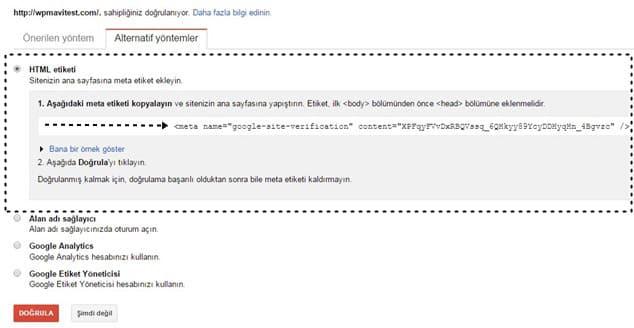 Wordpress SEO için Sİteyi Google'a Kaydetmek - 4