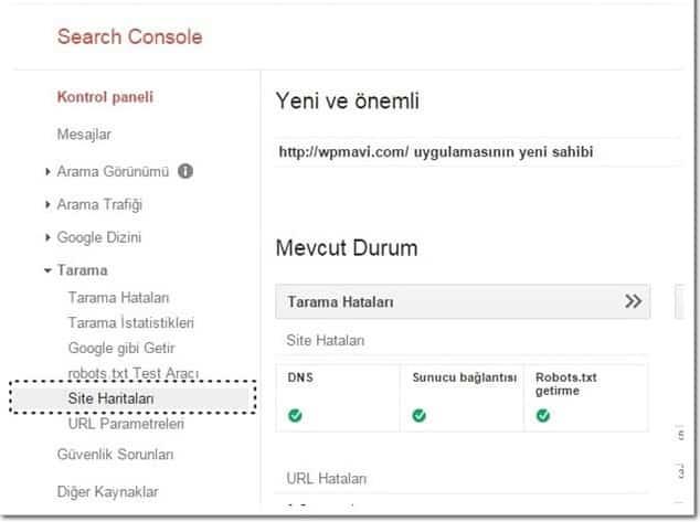 blog açtıktan sonra ilk yapılması gerekenler Goole'a site haritası ekleme