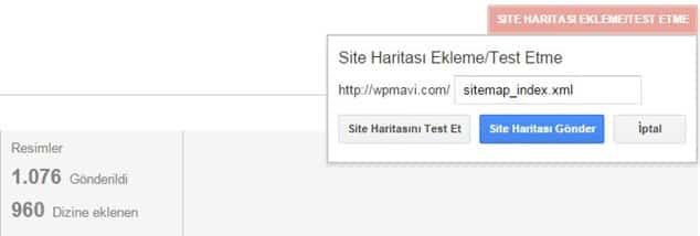Google'a sitemap ekleme