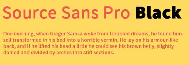 Source sans pro yazı tipi - en profesyonel yazı tipi
