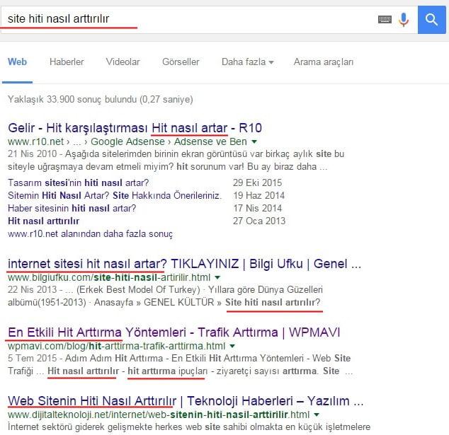 Uzun yazıların google sıralamasına etkisi