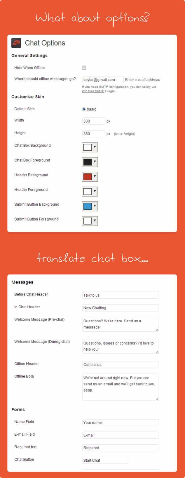 Blogger mı wordpress mi - canlı chat arka yüzü