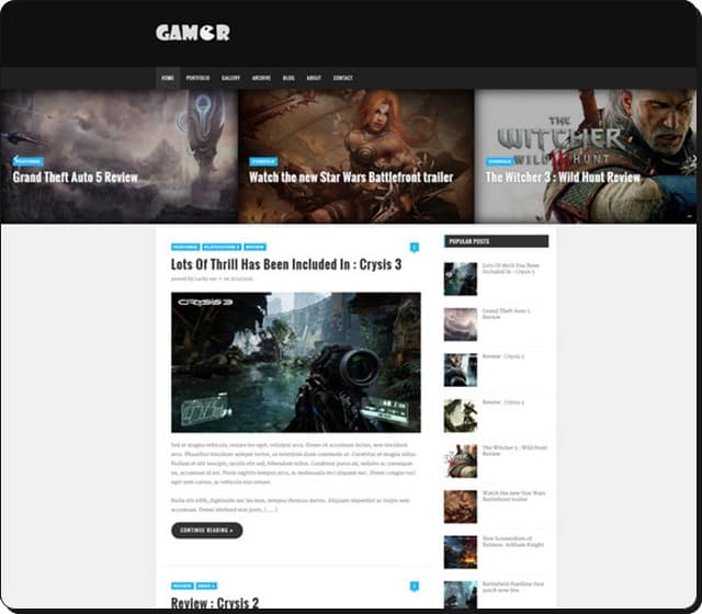 Gamer blogger teması - Blogger mı wordpress mi