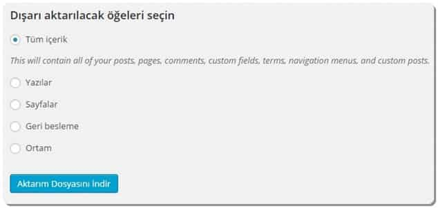 Wordpress.com'dan wordpress.org a geçiş