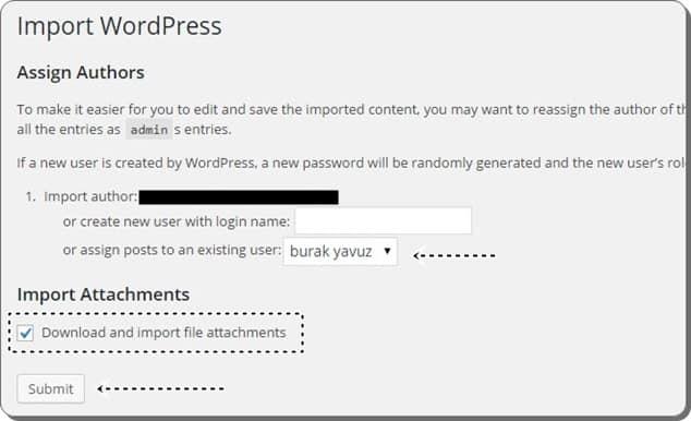 Wordpress.com'dan wordpress.org'a geçiş - yazar atama