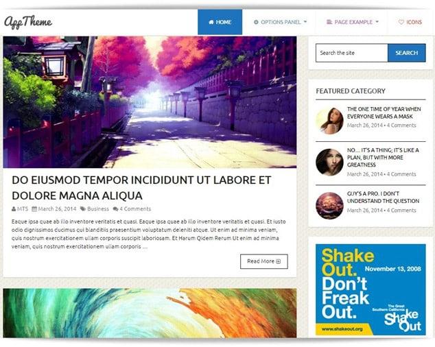 en hızlı wordpress blog temaları - app tema