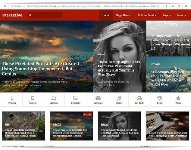 En iyi wordpress haber teması - en hızlı wordpress haber teması - interactive