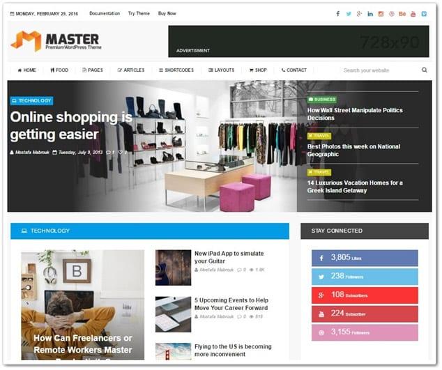 Wordpress Haber Teması - WordPress Haber Temaları - master WP Haber Teması