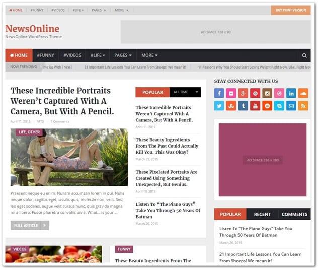 Wordpress Haber Teması - WordPress Haber Temaları - Newsonline haber teması