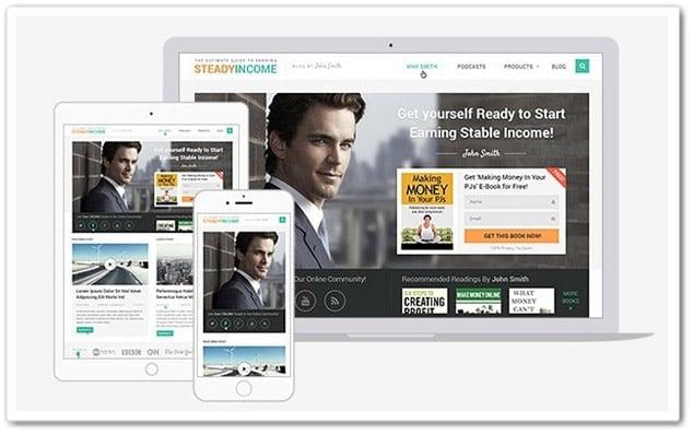 Steady Income WordPress Blog Teması Anasayfa
