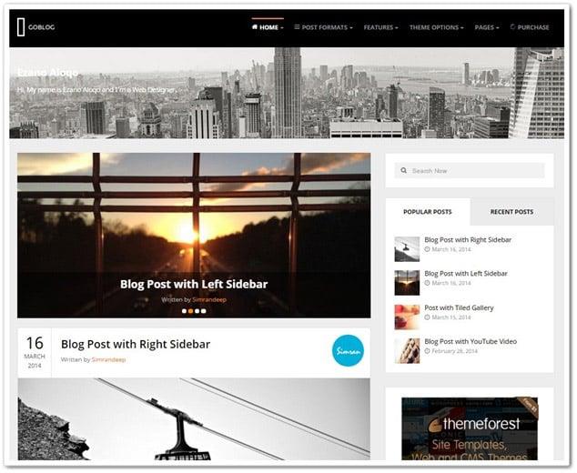 wordpress blog temaları En iyi wordpress blog teması - goblog