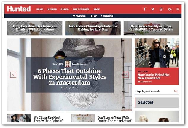 Wordpress Blog Teması - WordPress Blog Temaları - Hunted