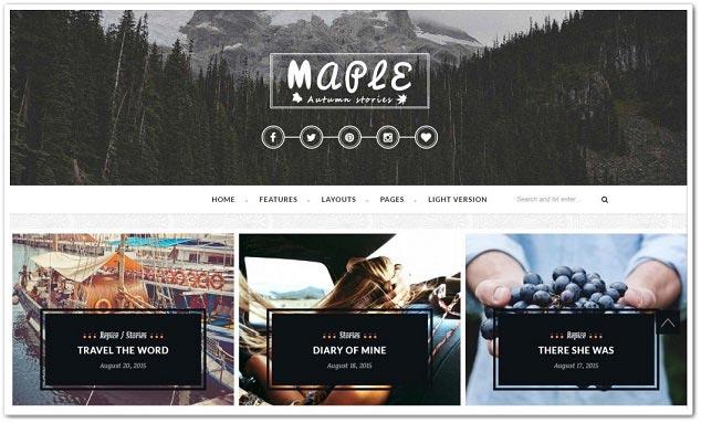 Wordpress Blog Teması - WordPress Blog Temaları - Maple