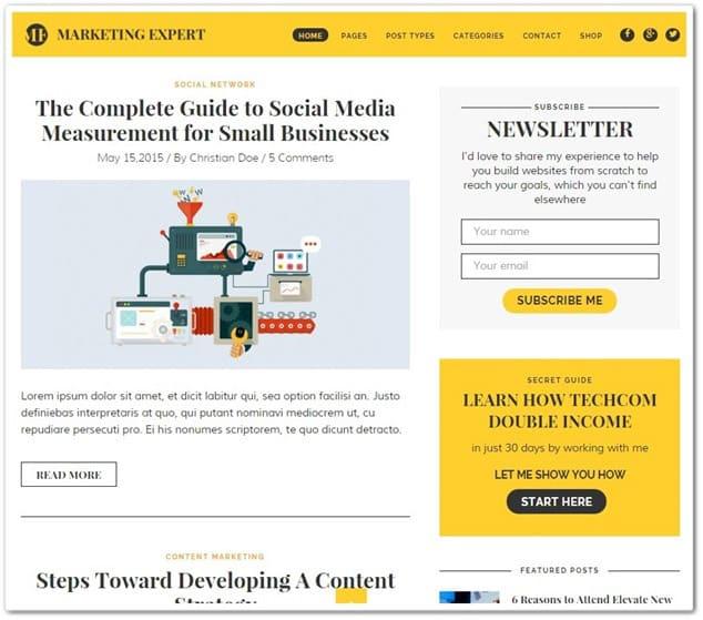 wp blog temaları - wp blog teması expert