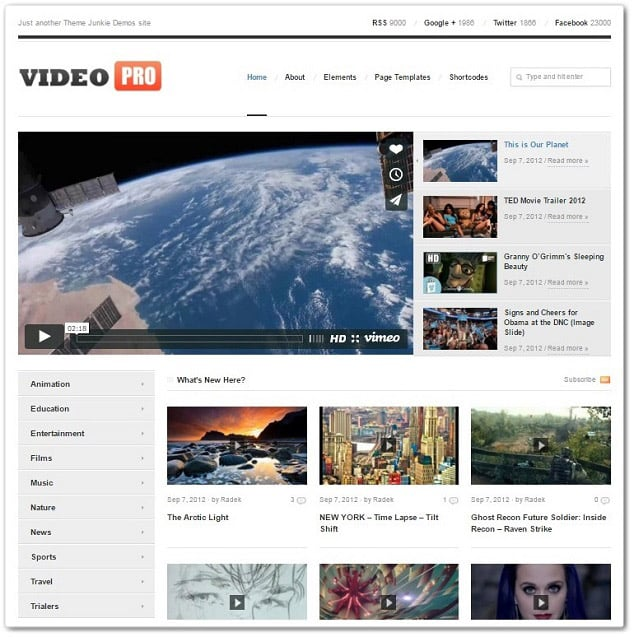 qWordpress Video Temaları - Video Pro Video Teması