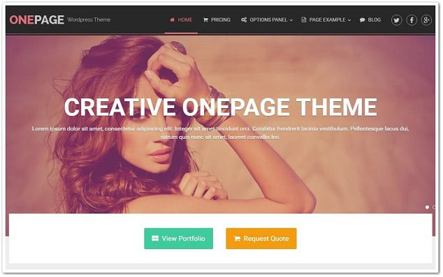 One Page WordPress kurumsal tema - wordpress firma teması