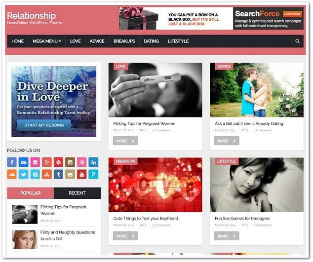 Wordpress kadın teması - kadın ilişki teması