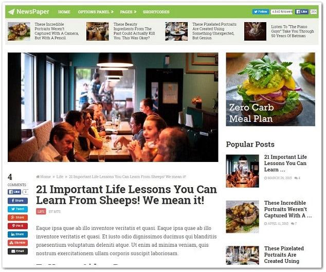 Wordpress kadın portal teması