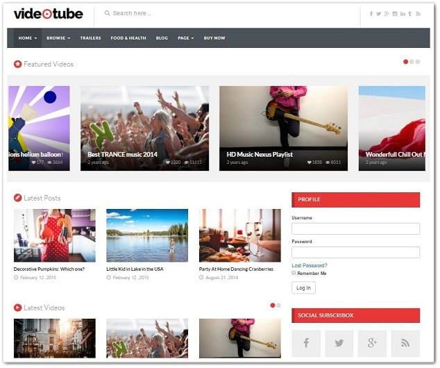 Wordpress video temaları - videotube video teması