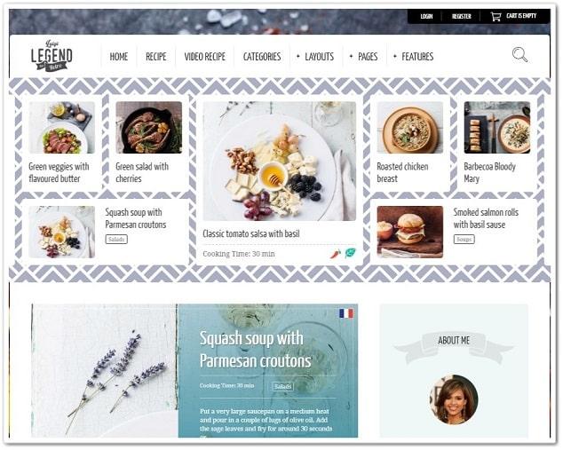 Wordpress Kadın Temaları - WordPress yemek teması