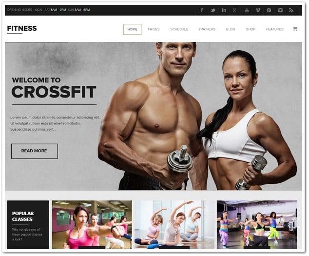 Wordpress Spor Salonu Teması - Fitness Teması - Crossfit teması