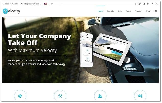 Wordpress kurumsal tema - velocity firma teması