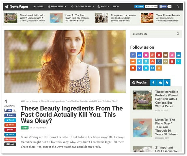 Wordpress sosyal blog teması - wordpress sosyal ağ teması