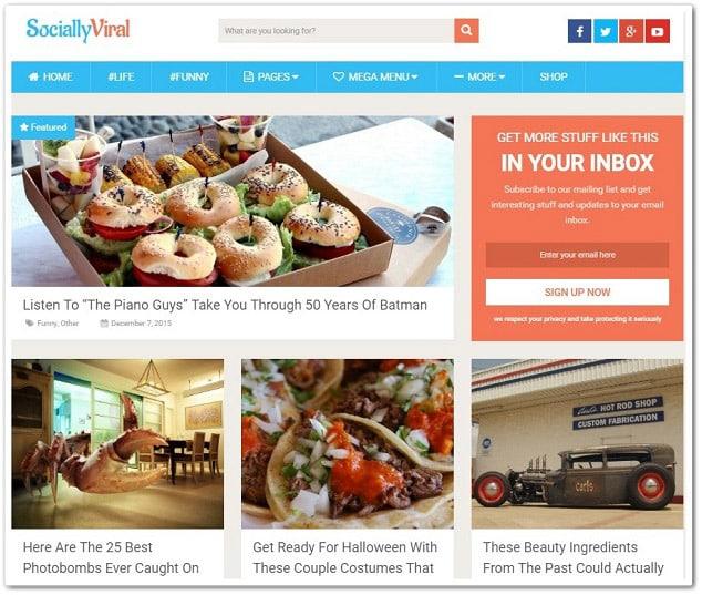 Wordpress paylaşım teması - sociallyviral