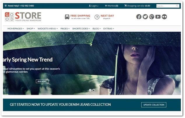 GoodStore WordPress Market Teması